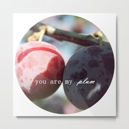 you are my plum Metal Print