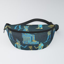 Egyptian  Gold and blue glass pattern Fanny Pack