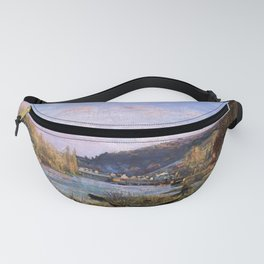 12,000pixel-500dpi - Camille Pissarro - The Seine At Bougival - Digital Remastered Edition Fanny Pack