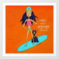 ❤️ Dogs Are Adventure Art Print