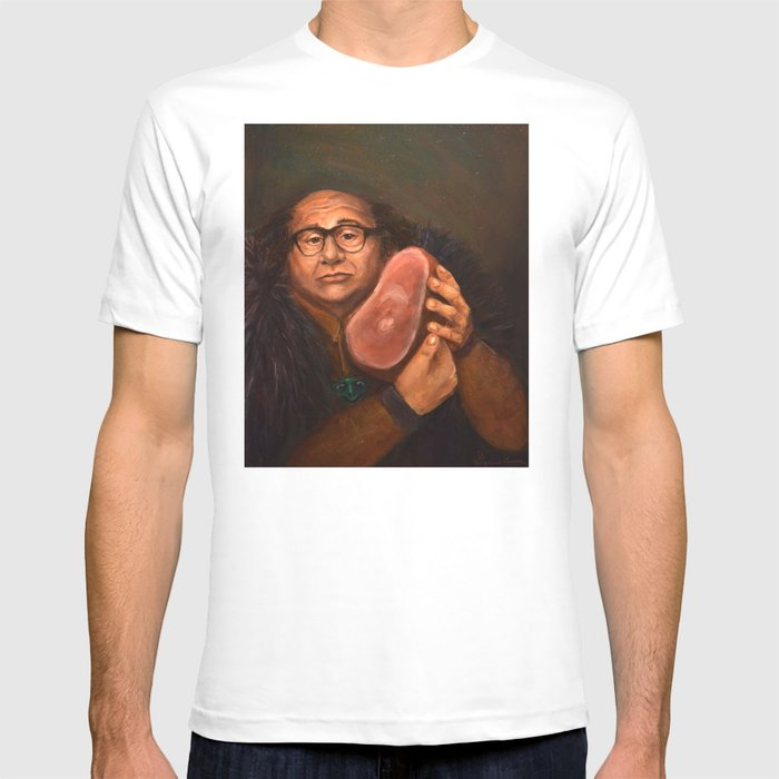 Danny DeVito with his beloved ham T-shirt