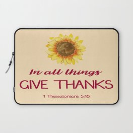 Give Thanks Laptop Sleeve