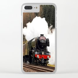 60103 Flying Scotsman at Blea Moor Clear iPhone Case