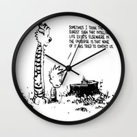 hobbes Wall Clocks featuring Calvin n hobbes by TEUFEL_STRITT666