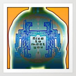 Nice to meet You / Robotic Lab Art Print