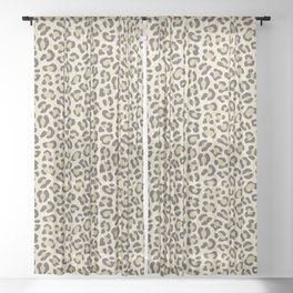 Leopard - Neutral Colors Sheer Curtain