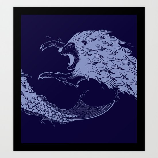 Merlion Art Print