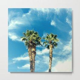 Palm Trees Floating Upward to the Heavens Metal Print