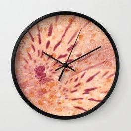 Marbled Peruvian Lily Wall Clock