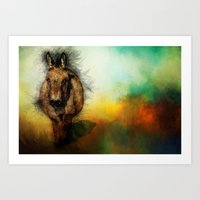 donkey Art Prints featuring Donkey by Ginkelmier