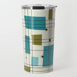 Mid-Century Modern (teal) Travel Mug