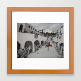 The Horrible End of the Mad Arab Abdul Alhazred Framed Art Print