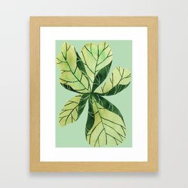 Leaf flower Framed Art Print