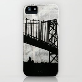 News Feed , Newspaper Bridge Collage iPhone Case