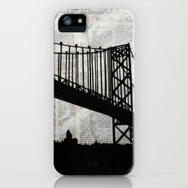 News Feed , Newspaper Bridge Collage iPhone Case