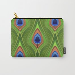 Stylized peacock feather pattern Carry-All Pouch