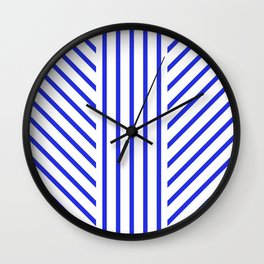 Lined Blue Wall Clock