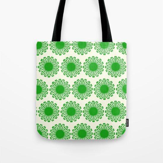 vintage flowers green Tote Bag