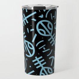 TØP Stickers - Original Logo Blue Travel Mug