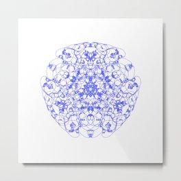 Mandala Trinity Lapislazuli blue Metal Print