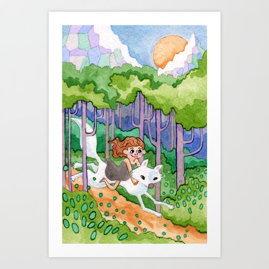 A Forest Romp Art Print