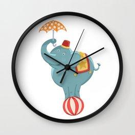 Circus Elelphant Wall Clock