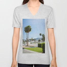 put the palm in palm springs Unisex V-Neck