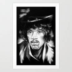 Jimmy in Black and White Art Print