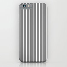 Vertical Lines (White/Gray) iPhone 6 Slim Case