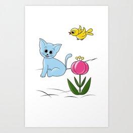 Smiling Cat Art Print