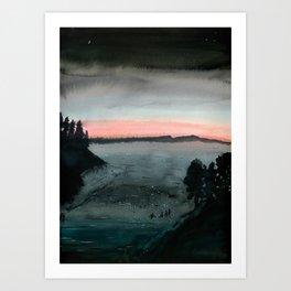Night Swimmers Art Print