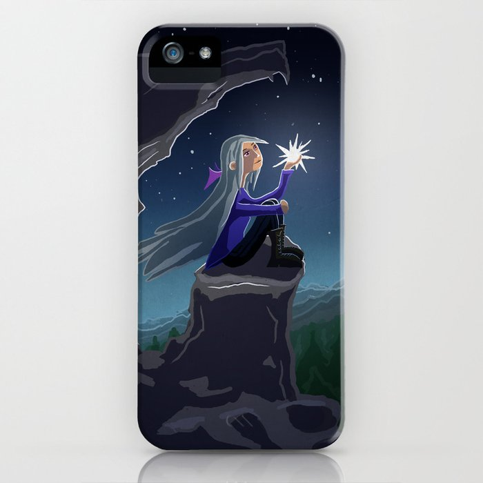 Girl who Stole a Star iPhone Case