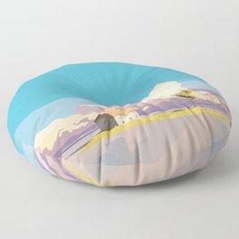 One Way Ride Floor Pillow