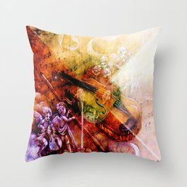 The melody of the paradise Throw Pillow