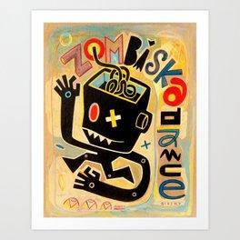 Zombiska dance B-Boy Art Print