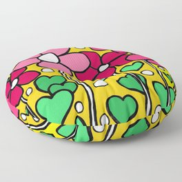 FLOWERS ABSTRACT ART Floor Pillow