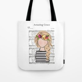 Amazing Grace - Blonde Braid Tote Bag
