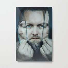 3 faced Metal Print