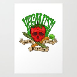 Veganism Art Print