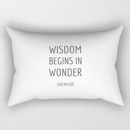 Wisdom begins in wonder - Socrates quote Rectangular Pillow