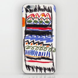 Moroccan rug with palm trees iPhone Skin