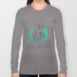 Blue green Long Sleeve T-shirt
