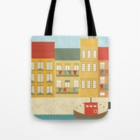 portugal Tote Bags featuring Portugal by Kakel