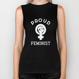 Proud Feminist Design (LGBT Feminism) Biker Tank