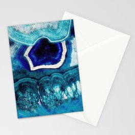 Abstract Blue Agates Stationery Cards