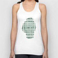 literary Tank Tops featuring The Various Parts of Mr. Lincoln Exploding Towards the Viewer by Literary Mint