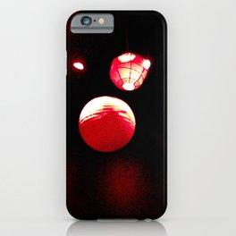 Crimson Orbs iPhone Case