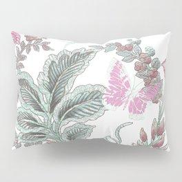 butterfly field red Pillow Sham