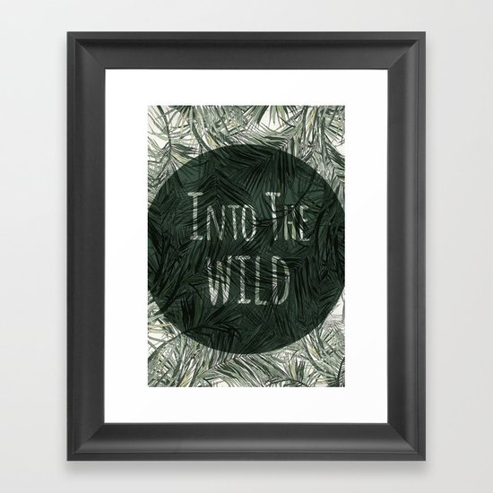 into the wild *palms Framed Art Print