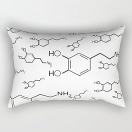 chemical structure for happiness Rectangular Pillow
